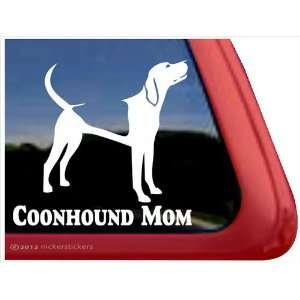 Coonhound Mom ~ Coonhound Vinyl Window Auto Decal Sticker