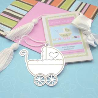 Marked with Love Baby Carriage Bookmark
