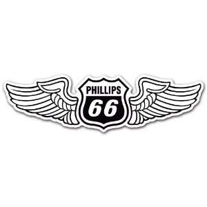 Phillips 66 Wings Fuel Gas Gasoline Station Racing Car Bumper Sticker