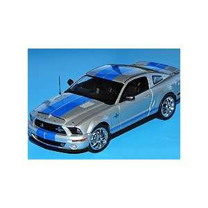 Franklin Mint 1/24 2008 Ford Shelby GT500KR Silver w/Blue