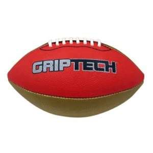 com Red Griptech JR Football Stitched Deluxe Rubber METALLIC GOLD RED