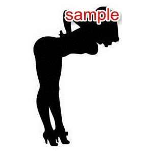 RANDOM SILHOUETTE GIRL 10 12 WHITE VINYL DECAL STICKER
