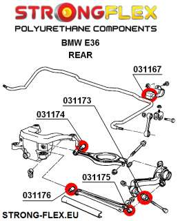 FULL (Front+Rear) Suspension Bush Kit Polyurethane STRONG FLEX
