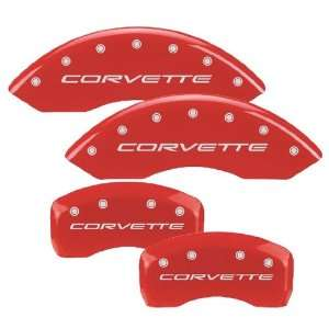 MGP Caliper Cover 13007 S CVT RD Red Powdercoat Brake Caliper Cover