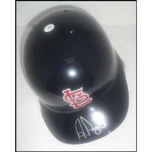 Albert Pujols Autographed/Hand Signed Cardinals Batting Helm Sports