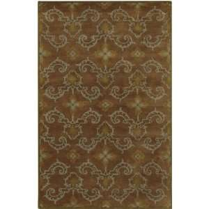 121 Brown Olive Green Floral Area Rug 2.60 x 11.60.