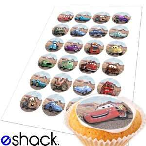 24x Disney Pixar Cars Edible Cake Toppers (Birthday Cupcake Topper