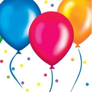 Party Balloons Birthday Luncheon Napkins   Bulk Toys & Games