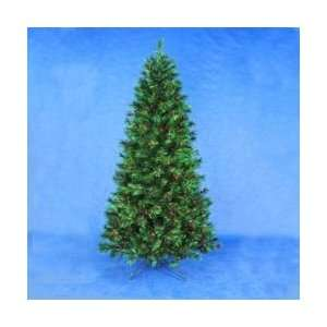 9 Pre Lit Laser Green Artificial Christmas Tree   Red