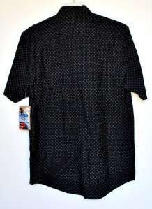 New Mens Quiksilver Cotton Shirt Black XL XLarge