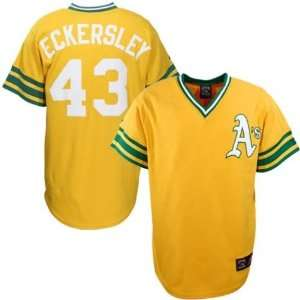 Men`s Oakland Athletics #43 Dennis Eckersley Gold Cooperstown Jersey