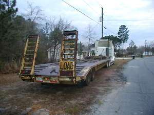 35 ton Heavy Equipment Trailer with ramps