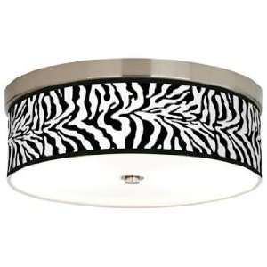 Safari Zebra Giclee Energy Efficient Ceiling Light