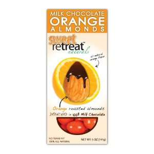 Sweet Retreat Naturals Roasted Almonds with Milk Chocolate, Orange, 5
