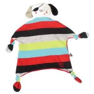 Tuc Tuc Pirate Doggy Little Teether Baby Blankie. 9x9
