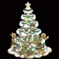 Kurt Adler Polonaise Tree W/Gingerbread Ornament AP3760