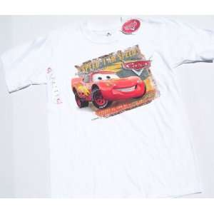 Disney Pixar Cars Lightning Mcqueen T Shirt Youth Size M
