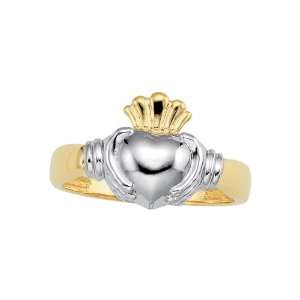 14K Two Tone Gold Claddagh Mens Ring Katarina Jewelry