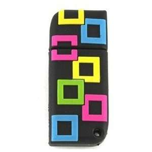 1GB Small Square USB Flash Drives Disk (Black