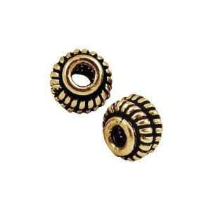 6mm Brass Plated Antique Gold Bali Style Beads Arts