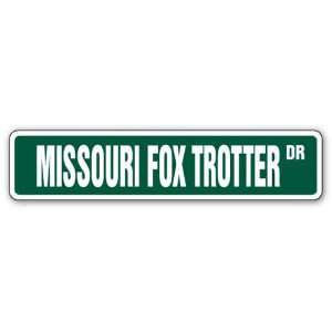FOX TROTTER Street Sign horse farm country Patio, Lawn & Garden