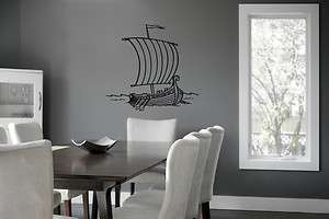 VIKING SHIP Wall Decor Vinyl Decal Sticker D 221