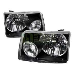 2001 2008 Ford Ranger Euro Headlights Black Housing