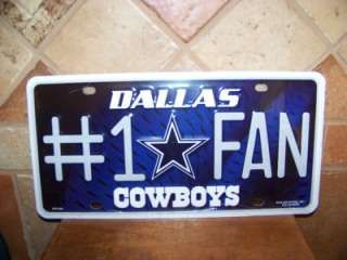 DALLAS COWBOYS NFL RICO NEW IN PLASTIC LICENSE TAG