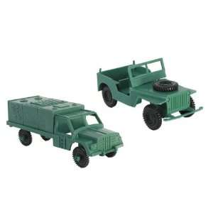 Military Transport Set for Plastic Army Men WWII Jeep and