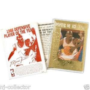 Michael Jordan Career Gold Foil Card   #9  Defense Plyr