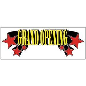Grand Opening Red Stars Business Banner