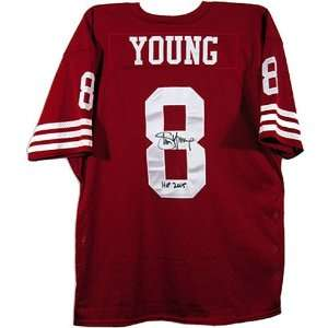 49Ers Steve Young Autographed Hall Of Fame Jersey