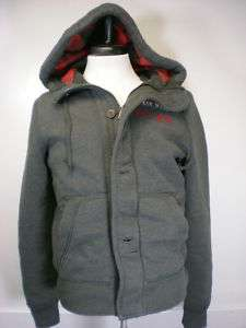 New Abercrombie & Fitch Mens Hoodie Jacket Coat Small