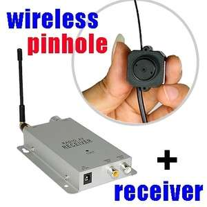 Mini Wireless Spy Nanny Micro Camera Pinhole System Kit