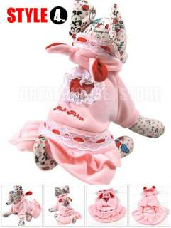 VARIOUS DOG HOODIE Dress Costume puppy clothes Jacket Coat XS S M L XL