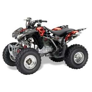 AMR Racing Honda TRX 250EX 250X ATV Quad Graphic Kit   Checkered Skull