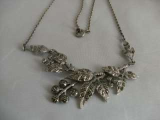 Beautiful sterling silver marcasite necklace