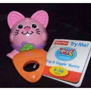 Fisher price Brilliant Basics Tug and Giggle Bunny Toys