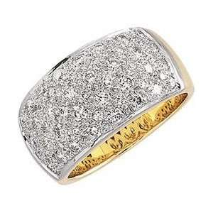 14k Two Tone Gold Diamond Ring