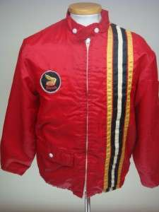 VINTAGE 70 HONDA MOTORCYCLE RED NYLON JACKET SZ SMALL