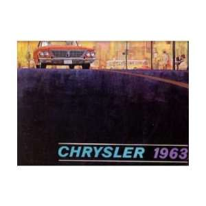 1963 CHRYSLER Sales Brochure Literature Book Piece