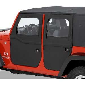 51799 35 Jeep Wrangler 2 Pc Soft Doors   JK   Rear Doors for Unlimited