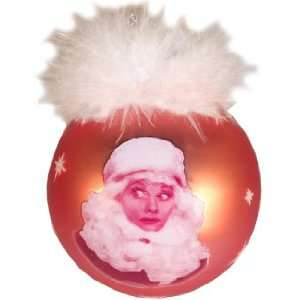 I Love LUCY Red Glass Ball CHRISTMAS ORNAMENT New