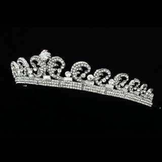 Kate Middleton Royal Wedding CZ Crystal Rhinestone Bridal Crown Tiara