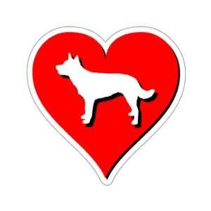 Australian Kelpie Love   Window Bumper Sticker Automotive