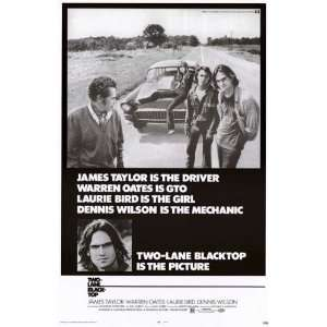 Two Lane Black Top Laurie Bird James Taylor25X39 Poster