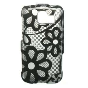 Black Flower Lace Snap On 2 Pcs Phone Protector Hard Cover