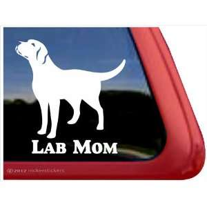 Lab Mom ~ Labrador Retriever Vinyl Window Auto Decal