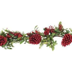 6 Red Holly Berry, Pine Cone, Mistletoe & Cedar Pine