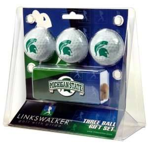 Michigan State Spartans NCAA 3 Golf Ball Gift Pack w Hat